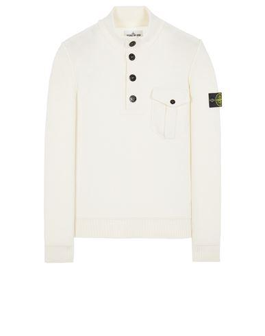STONE ISLAND 522B6 GEELONG WOOL Sweater Man Natural White EUR 415