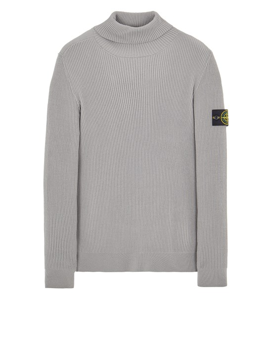 Sweater Herr 525C2 FULL RIB PURE WOOL Front STONE ISLAND