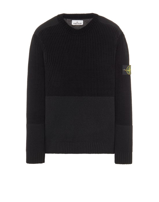 STONE ISLAND 538B9 MIXED YARNS  Sweater Man Black