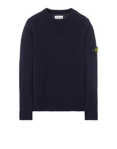 STONE ISLAND 535A3 LAMBSWOOL Sweater Man Blue USD 373