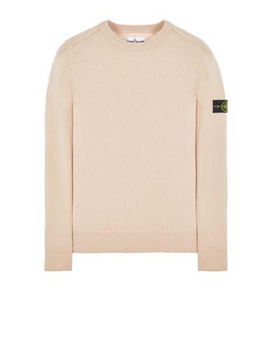 STONE ISLAND 535A3 LAMBSWOOL Sweater Man Pastel pink USD 271