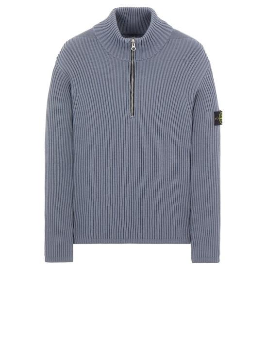 Sweater Man 518C2 FULL RIB PURE WOOL Front STONE ISLAND