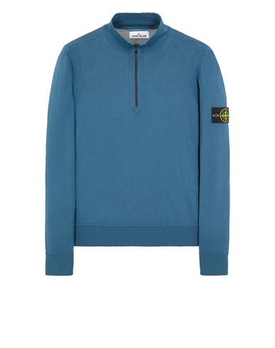 STONE ISLAND 515C4 LIGHT PURE WOOL Sweater Man Teal EUR 295