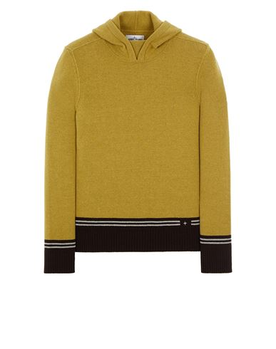 STONE ISLAND 568B8 LAMBSWOOL WITH STRIPED MOTIF AND EMBROIDERY 니트 남성 다크 베이지 KRW 482300
