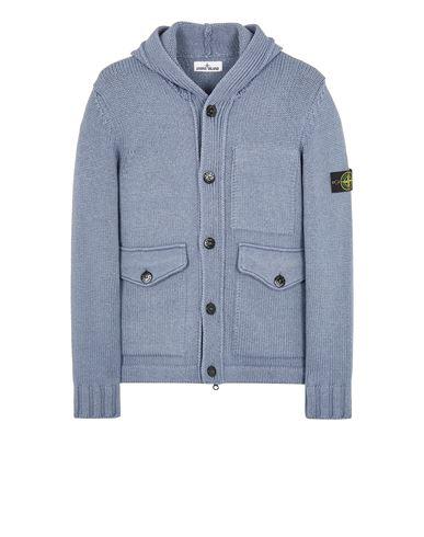STONE ISLAND 558B2 WOOL-SILK  Sweater Man Pastel Blue EUR 859