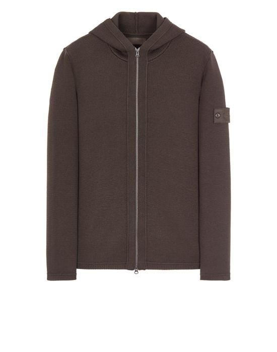 STONE ISLAND 574FA PURE WOOL_GHOST PIECE Sweater Man Dark Brown