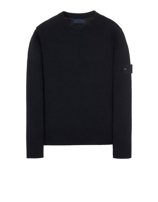 STONE ISLAND 567FA PURE WOOL_GHOST PIECE Sweater Man Blue