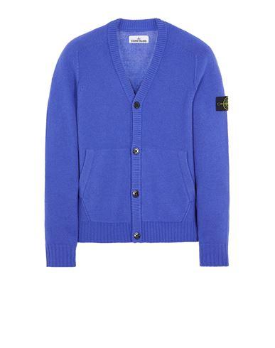 STONE ISLAND 504A3 LAMBSWOOL Sweater Man Periwinkle USD 504