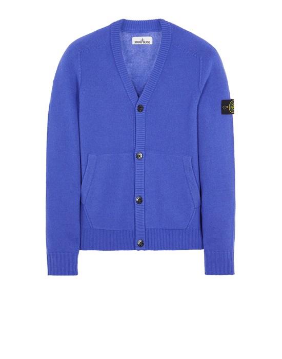 STONE ISLAND 504A3 LAMBSWOOL Sweater Man Periwinkle