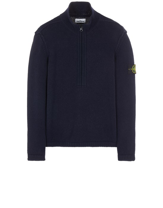 Sweater Man 534A6 LAMBSWOOL WITH FABRIC DETAILS Front STONE ISLAND