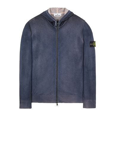 STONE ISLAND 572A8 PURE WOOL_FAST DYE + HAND MADE AIRBRUSH + LASER PRINT: REVERSIBLE  Sweater Man Blue EUR 479