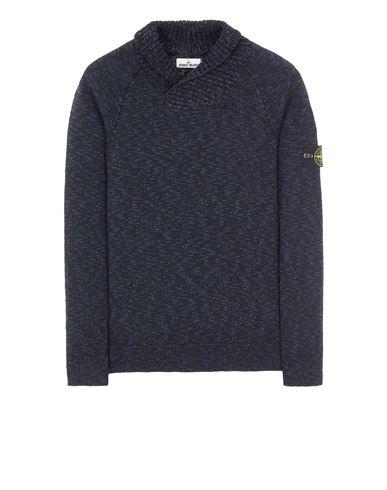 STONE ISLAND 529D3 COTTON WOOL MÉLANGE Sweater Man Blue EUR 309