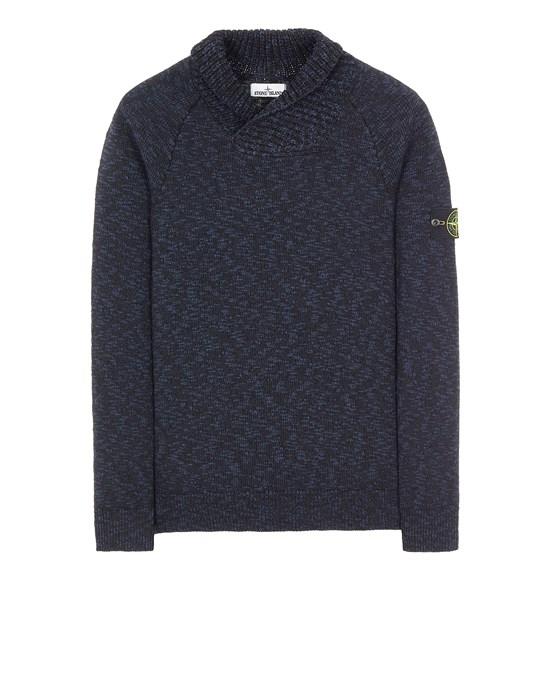 Sweater Man 529D3 COTTON WOOL MÉLANGE Front STONE ISLAND