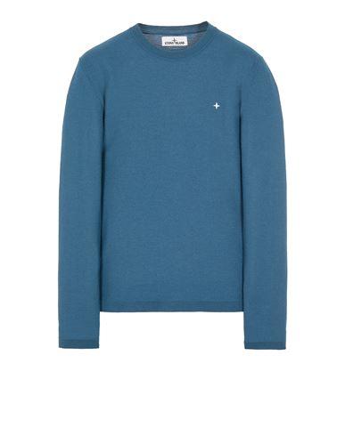 STONE ISLAND 562C4 LIGHT PURE WOOL Sweater Man Teal EUR 279