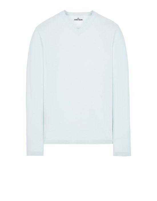 Sweater Man 549C4 LIGHT PURE WOOL Front STONE ISLAND