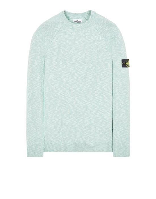 Sweater Man 510D3 COTTON WOOL MÉLANGE Front STONE ISLAND