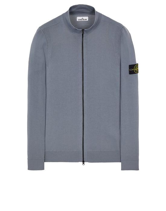 Sweater Man 520C4 LEICHTE REINE WOLLE Front STONE ISLAND