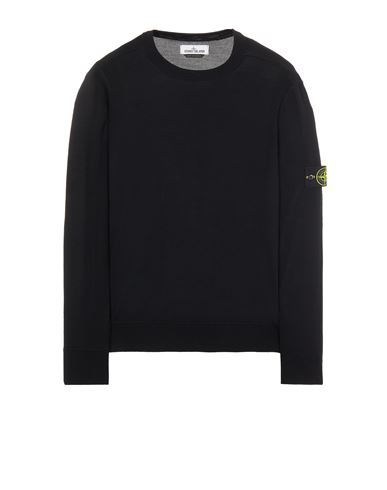 STONE ISLAND 526C4 LIGHT PURE WOOL Sweater Man Black EUR 237