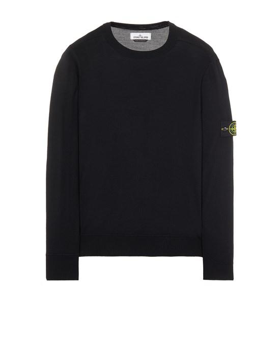 Sweater Man 526C4 LIGHT PURE WOOL Front STONE ISLAND