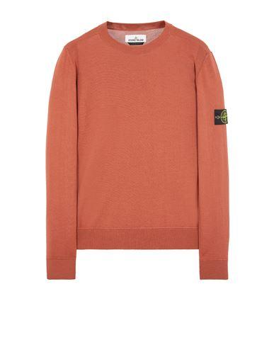 STONE ISLAND 526C4 LIGHT PURE WOOL Sweater Man Brick red EUR 237