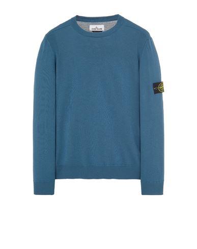 STONE ISLAND 526C4 LIGHT PURE WOOL Sweater Man Teal EUR 269