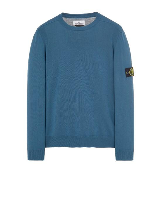 STONE ISLAND 526C4 LIGHT PURE WOOL Sweater Man Teal