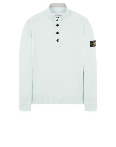 STONE ISLAND 540A3 LAMBSWOOL Sweater Man Light Green EUR 309