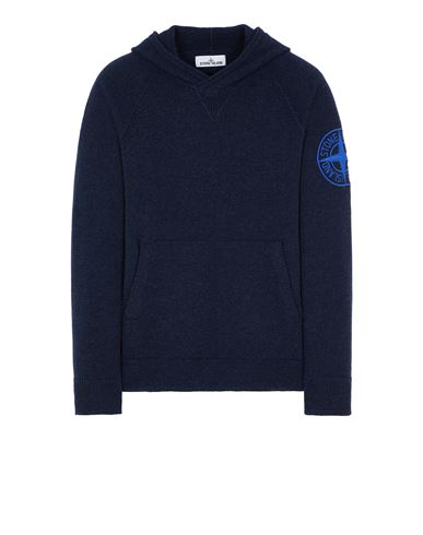 STONE ISLAND 513B7 GEELONG WOOL WITH EMBROIDERY Sweater Man Blue EUR 348