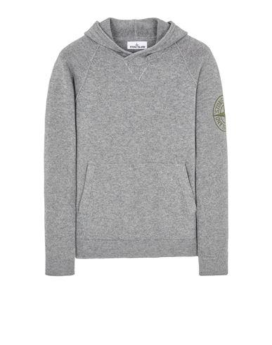 STONE ISLAND 513B7 GEELONG WOOL WITH EMBROIDERY Sweater Man Grey EUR 459