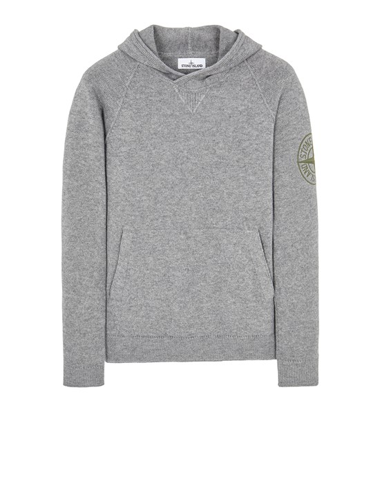 Sweater Herr 513B7 GEELONG WOOL WITH EMBROIDERY Front STONE ISLAND
