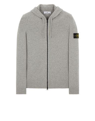 STONE ISLAND 546A3 LAMBSWOOL Sweater Man Pearl Grey EUR 359