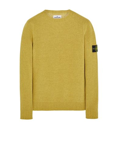 STONE ISLAND 505A3 LAMBSWOOL Sweater Man Dark Beige EUR 269