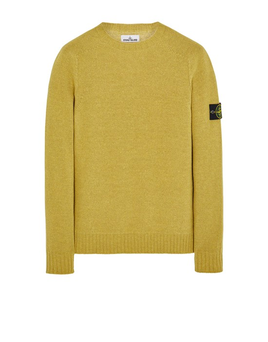 Sweater Man 505A3 LAMBSWOOL Front STONE ISLAND