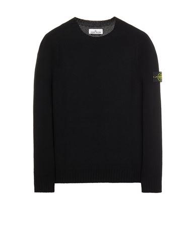 STONE ISLAND 505A3 LAMBSWOOL Sweater Man Black USD 271