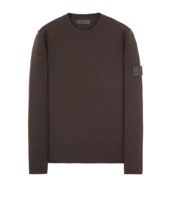 STONE ISLAND 567FA PURE WOOL_GHOST PIECE Sweater Man Dark Brown