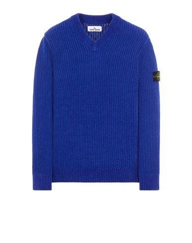 STONE ISLAND 554A5 COTTON CHENILLE Sweater Man Periwinkle USD 339