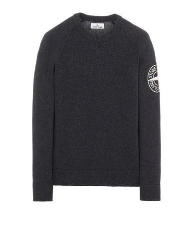 STONE ISLAND 514B7 GEELONG WOOL WITH EMBROIDERY Sweater Man Steel Grey EUR 389