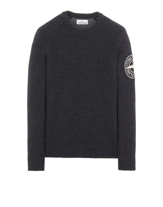 STONE ISLAND 514B7 GEELONG WOOL WITH EMBROIDERY Sweater Man Steel Grey