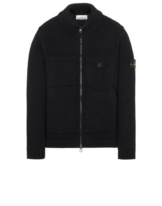 STONE ISLAND 548A4 LAMBSWOOL Sweater Man Black