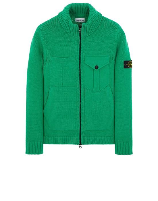 STONE ISLAND 548A4 LAMBSWOOL Sweater Man Green