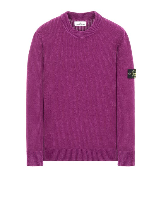Sweater Man 555A5 COTTON CHENILLE Front STONE ISLAND