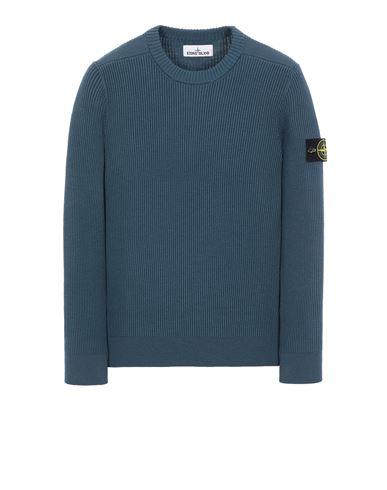 STONE ISLAND 521C2 FULL RIB PURE WOOL 针织衫 男士 蓝绿色 EUR 347