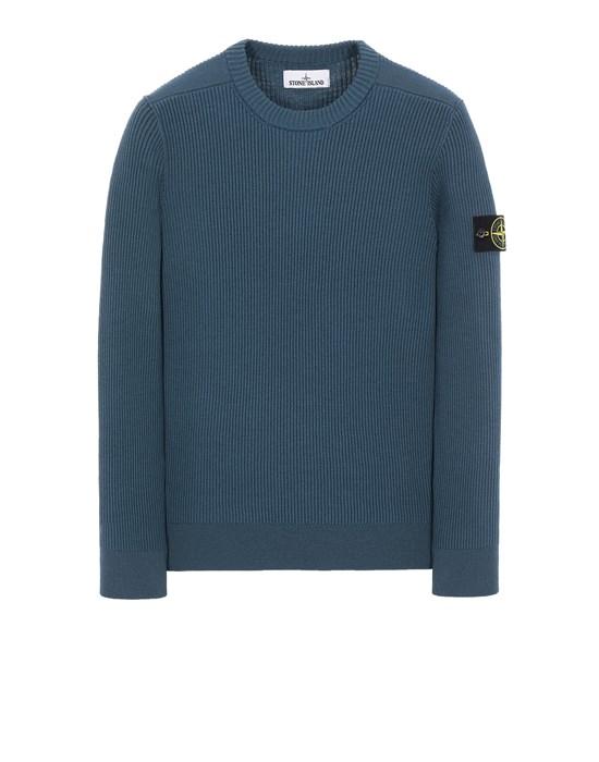 Sweater Man 521C2 FULL RIB PURE WOOL Front STONE ISLAND