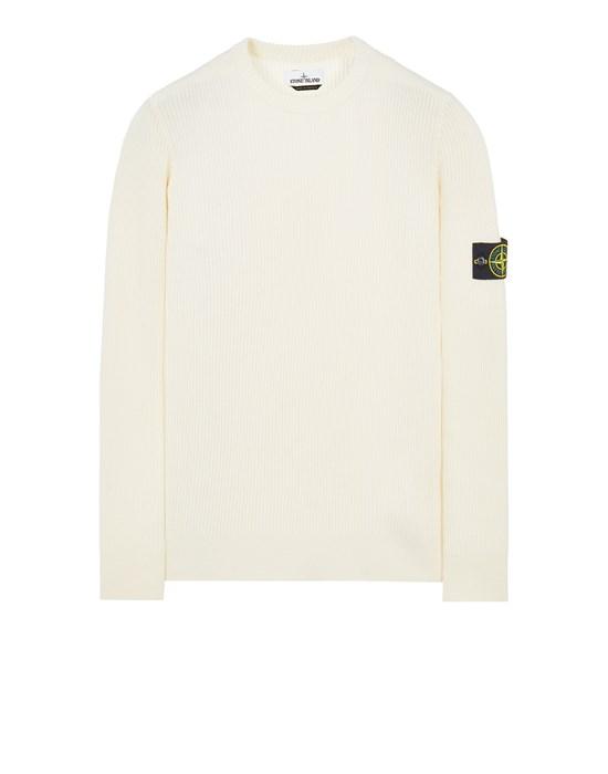 STONE ISLAND 521C2 FULL RIB PURE WOOL Sweater Man Natural White