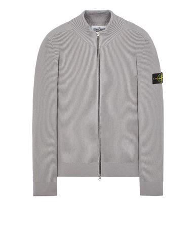 STONE ISLAND 523C2 FULL RIB PURE WOOL Sweater Man Pearl Grey EUR 399