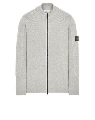 STONE ISLAND 553A7 COMFORT WOOL COTTON Sweater Man Pearl Grey EUR 399