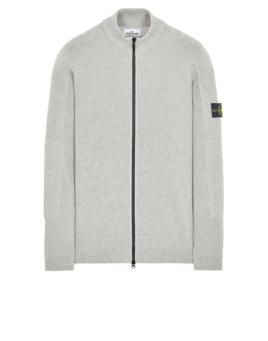 Sweater Man 553A7 COMFORT WOOL COTTON Front STONE ISLAND
