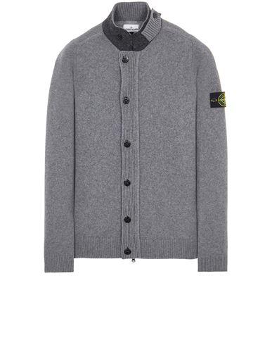STONE ISLAND 547A3 LAMBSWOOL Sweater Man Grey EUR 379