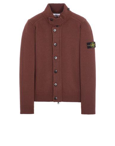 STONE ISLAND 547A3 LAMBSWOOL Sweater Man MAHOGANY BROWN EUR 379