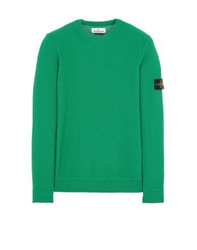 STONE ISLAND 577B6 GEELONG WOOL Sweater Man Green EUR 335